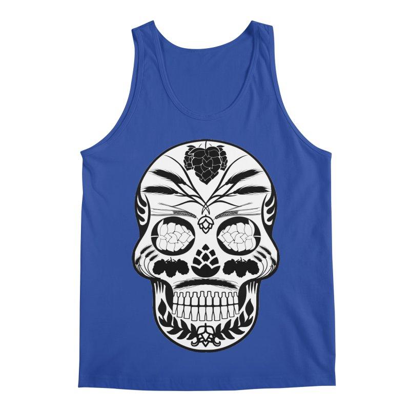 Hoppy Sugar Skull B&W Men's Regular Tank by DrinkIN GeekOUT's Artist Shop