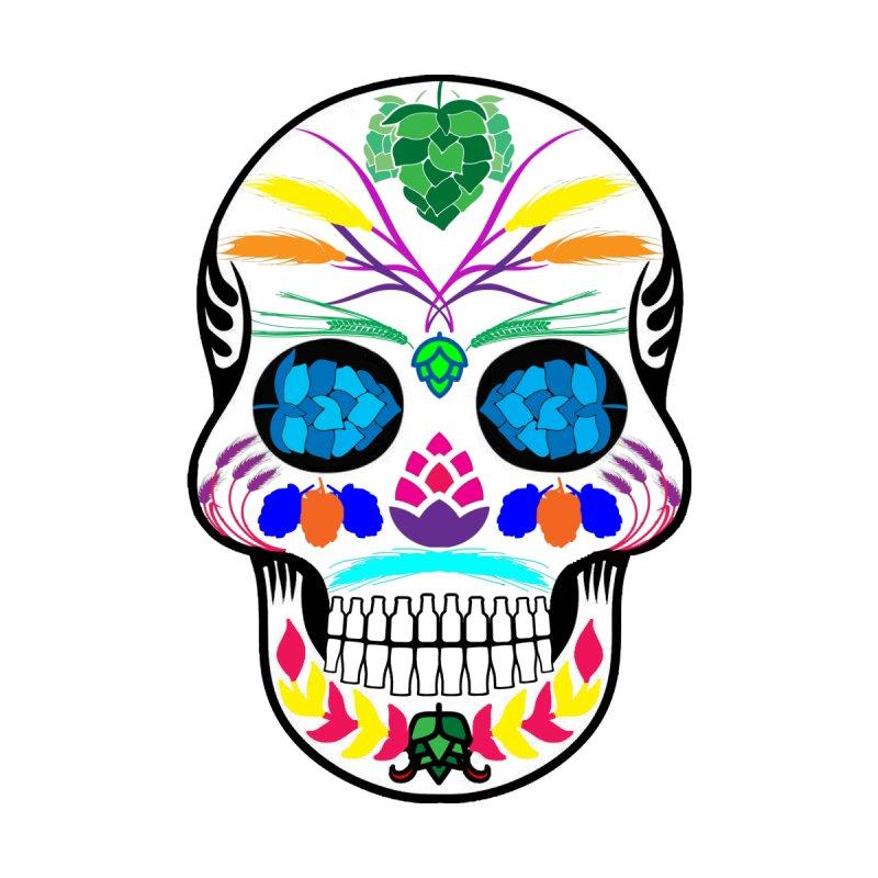 Hoppy Sugar Skull (color) Men's Zip-Up Hoody by DrinkIN GeekOUT's Artist Shop