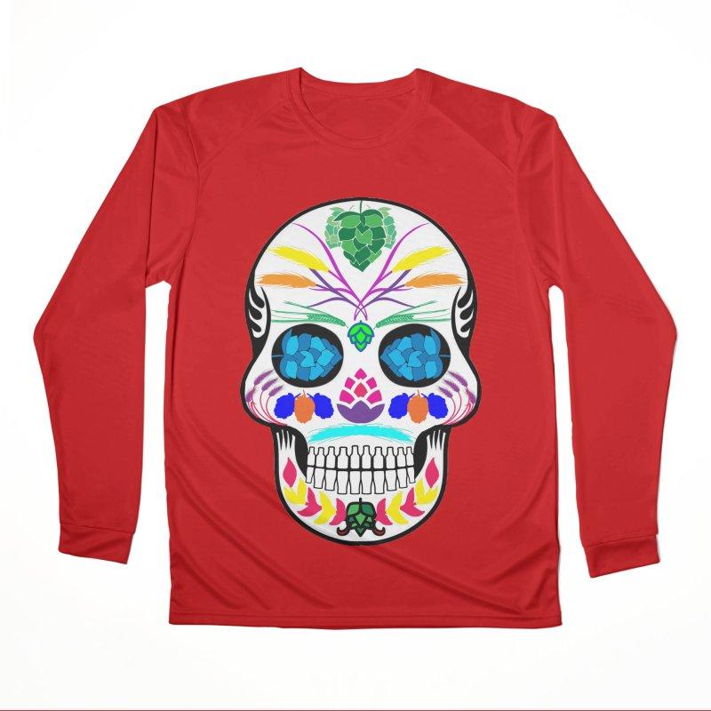 Hoppy Sugar Skull (color) Men's Performance Longsleeve T-Shirt by DrinkIN GeekOUT's Artist Shop