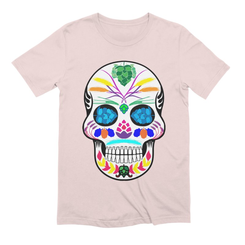 Hoppy Sugar Skull (color) Men's Extra Soft T-Shirt by DrinkIN GeekOUT's Artist Shop
