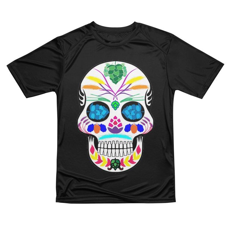 Hoppy Sugar Skull (color) Women's Performance Unisex T-Shirt by DrinkIN GeekOUT's Artist Shop
