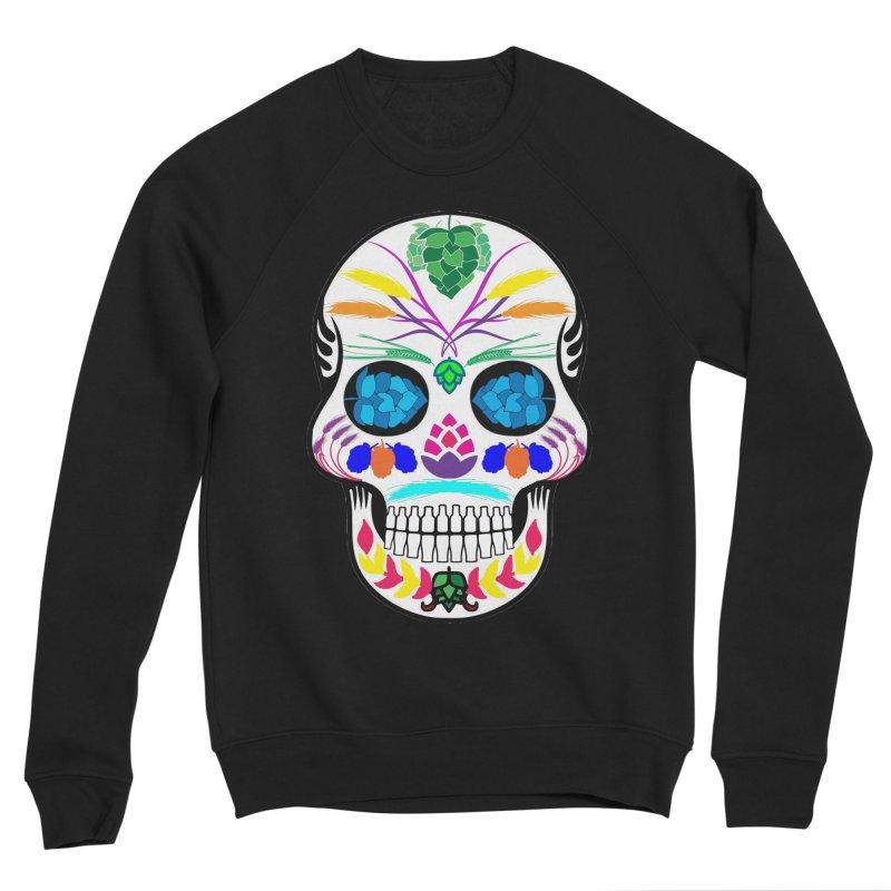Hoppy Sugar Skull (color) Men's Sponge Fleece Sweatshirt by DrinkIN GeekOUT's Artist Shop