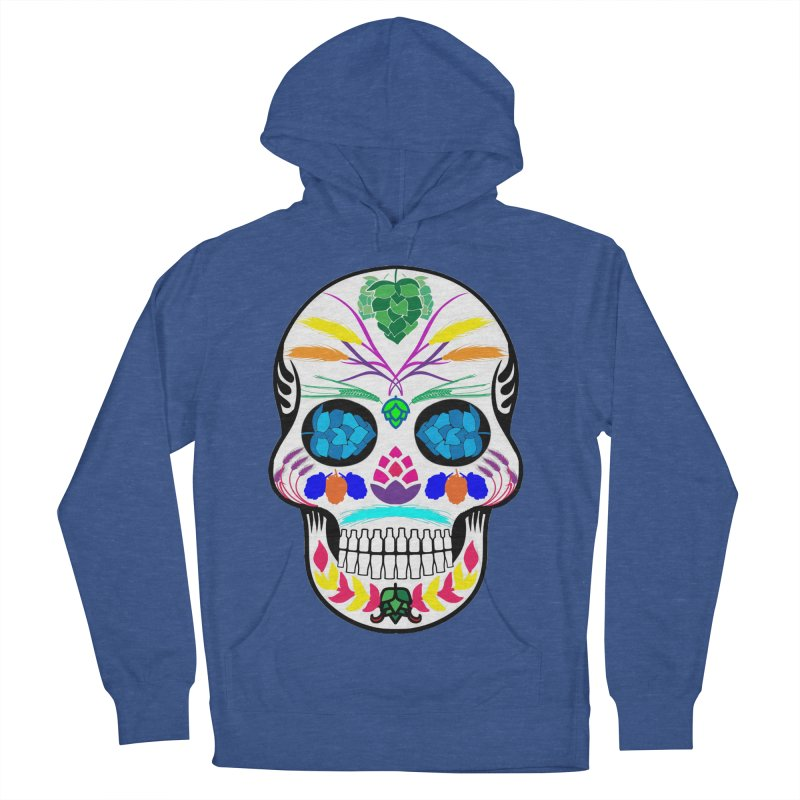 Hoppy Sugar Skull (color) Women's French Terry Pullover Hoody by DrinkIN GeekOUT's Artist Shop