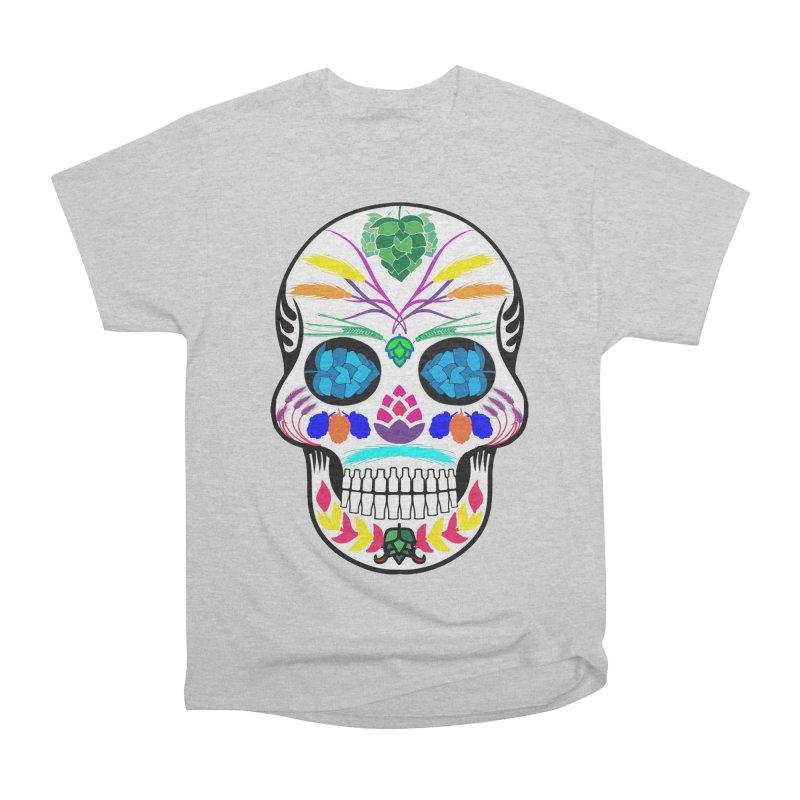 Hoppy Sugar Skull (color) Women's Heavyweight Unisex T-Shirt by DrinkIN GeekOUT's Artist Shop