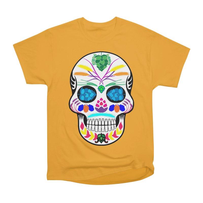 Hoppy Sugar Skull (color) Men's Heavyweight T-Shirt by DrinkIN GeekOUT's Artist Shop
