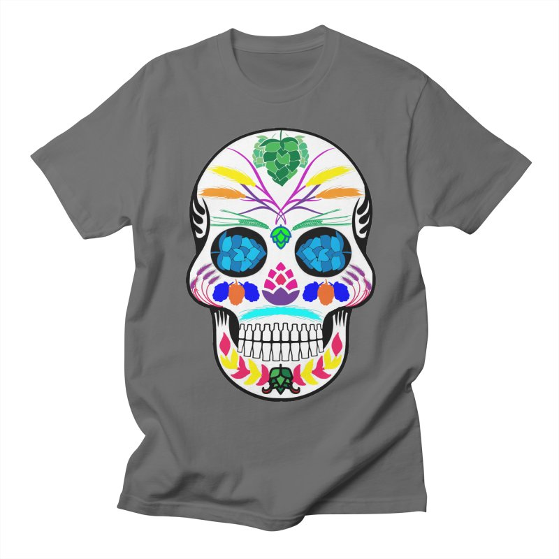 Hoppy Sugar Skull (color) Men's T-Shirt by DrinkIN GeekOUT's Artist Shop