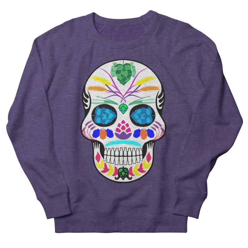Hoppy Sugar Skull (color) Women's French Terry Sweatshirt by DrinkIN GeekOUT's Artist Shop