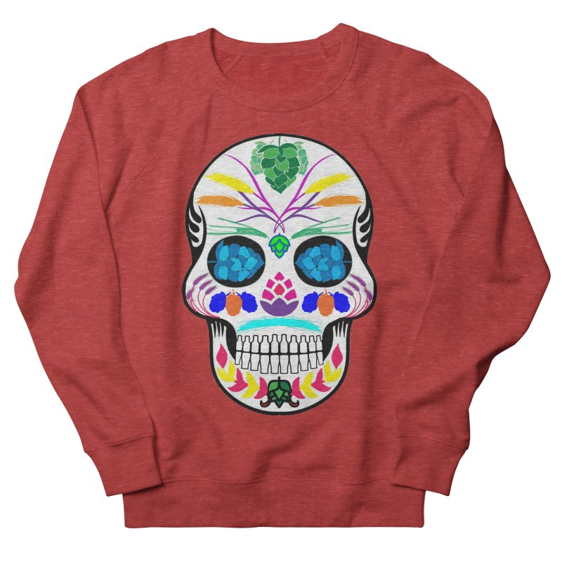 Hoppy Sugar Skull (color) Men's French Terry Sweatshirt by DrinkIN GeekOUT's Artist Shop