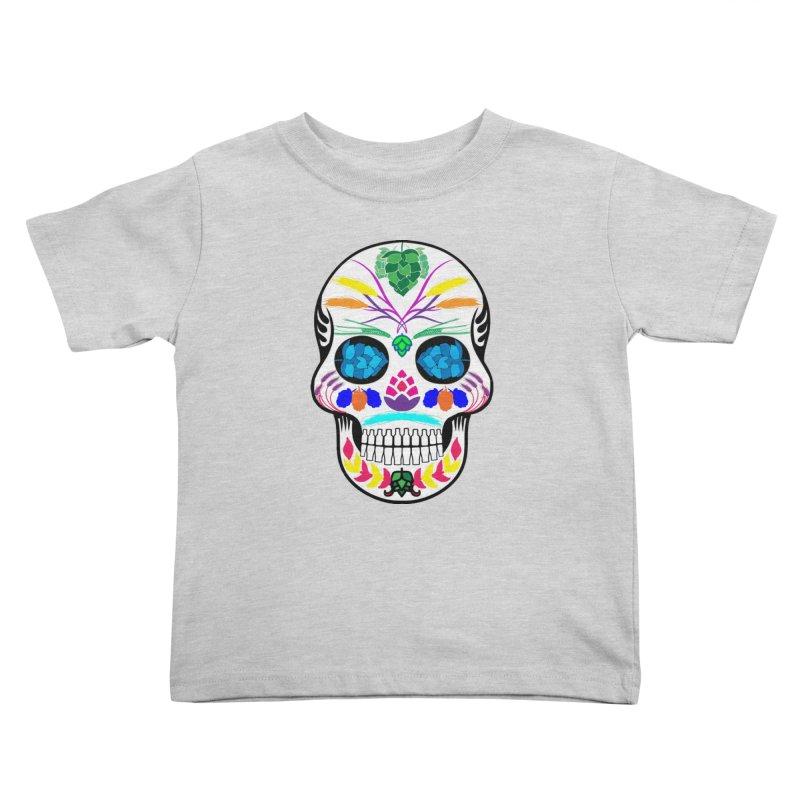 Hoppy Sugar Skull (color) Kids Toddler T-Shirt by DrinkIN GeekOUT's Artist Shop
