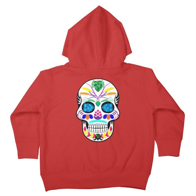 Hoppy Sugar Skull (color) Kids Toddler Zip-Up Hoody by DrinkIN GeekOUT's Artist Shop