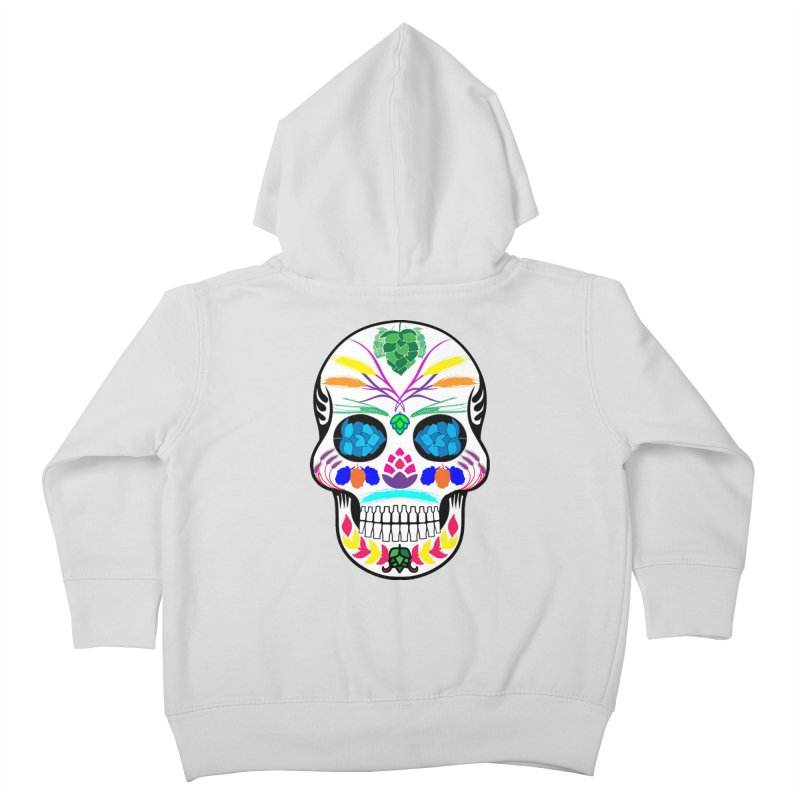 Hoppy Sugar Skull (color) Kids Toddler Zip-Up Hoody by DrinkIN GeekOUT's Artist Shop