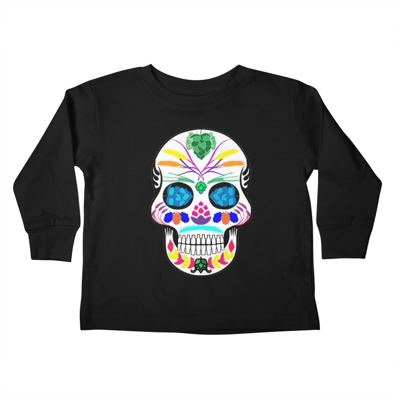 Hoppy Sugar Skull (color) Kids Toddler Longsleeve T-Shirt by DrinkIN GeekOUT's Artist Shop
