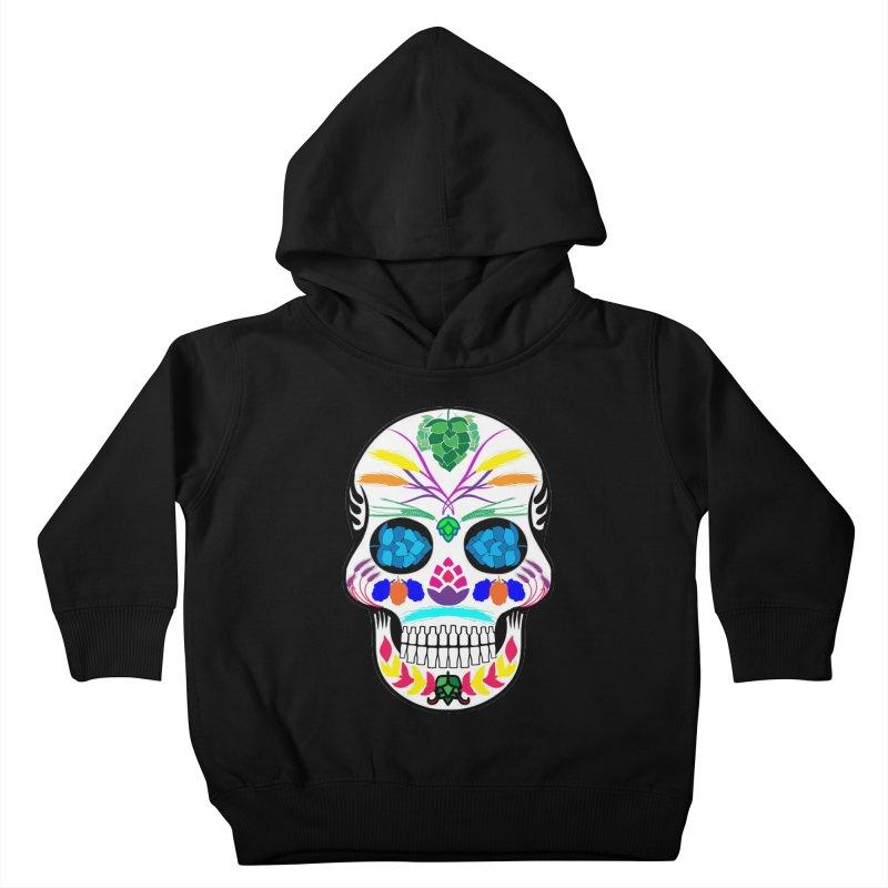 Hoppy Sugar Skull (color) Kids Toddler Pullover Hoody by DrinkIN GeekOUT's Artist Shop