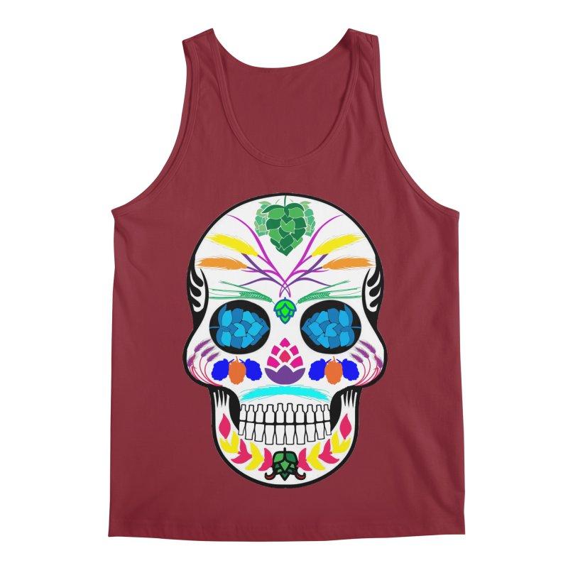 Hoppy Sugar Skull (color) Men's Regular Tank by DrinkIN GeekOUT's Artist Shop