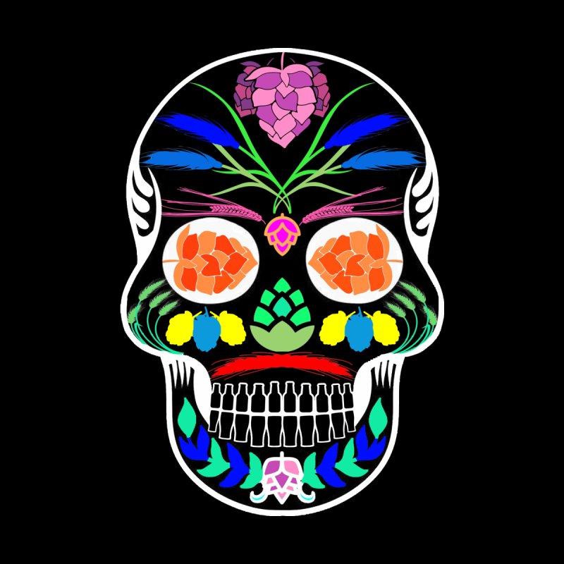 Hoppy Sugar Skull (inverse) by DrinkIN GeekOUT's Artist Shop
