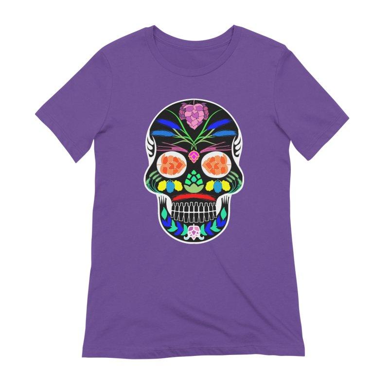 Hoppy Sugar Skull (inverse) Women's Extra Soft T-Shirt by DrinkIN GeekOUT's Artist Shop