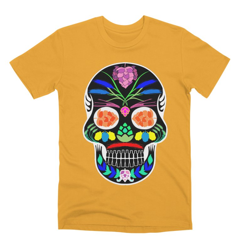 Hoppy Sugar Skull (inverse) Men's Premium T-Shirt by DrinkIN GeekOUT's Artist Shop
