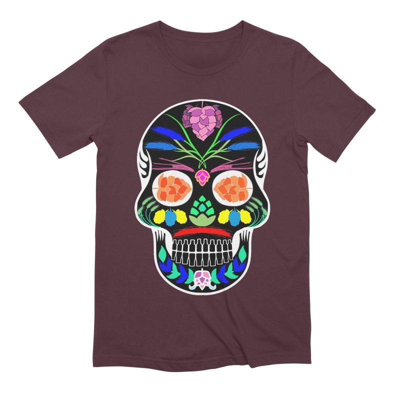 Hoppy Sugar Skull (inverse) Men's Extra Soft T-Shirt by DrinkIN GeekOUT's Artist Shop