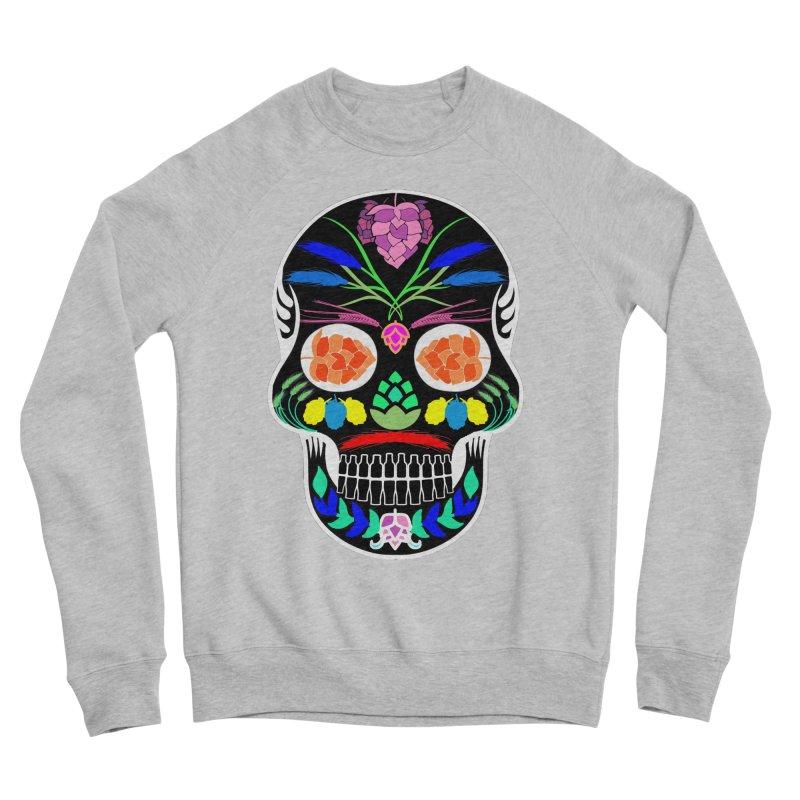 Hoppy Sugar Skull (inverse) Men's Sponge Fleece Sweatshirt by DrinkIN GeekOUT's Artist Shop