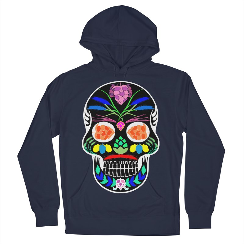 Hoppy Sugar Skull (inverse) Women's French Terry Pullover Hoody by DrinkIN GeekOUT's Artist Shop