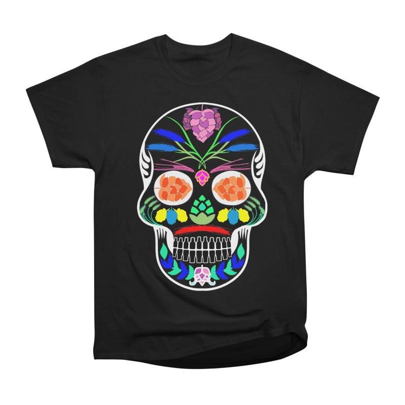 Hoppy Sugar Skull (inverse) Men's Heavyweight T-Shirt by DrinkIN GeekOUT's Artist Shop