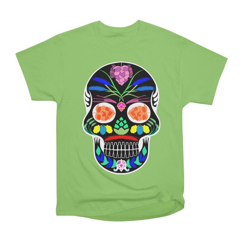 Hoppy Sugar Skull (inverse) Women's Heavyweight Unisex T-Shirt by DrinkIN GeekOUT's Artist Shop