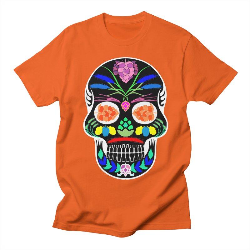 Hoppy Sugar Skull (inverse) Men's Regular T-Shirt by DrinkIN GeekOUT's Artist Shop