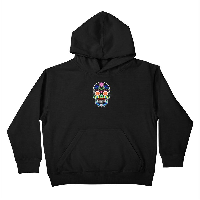 Hoppy Sugar Skull (inverse) Kids Pullover Hoody by DrinkIN GeekOUT's Artist Shop