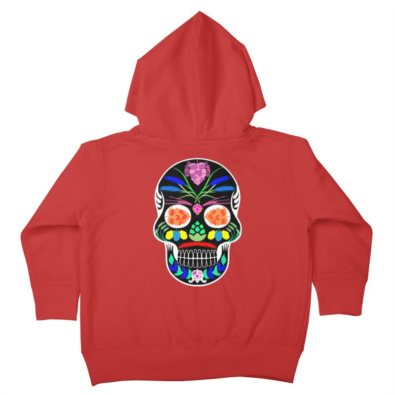 Hoppy Sugar Skull (inverse) Kids Toddler Zip-Up Hoody by DrinkIN GeekOUT's Artist Shop