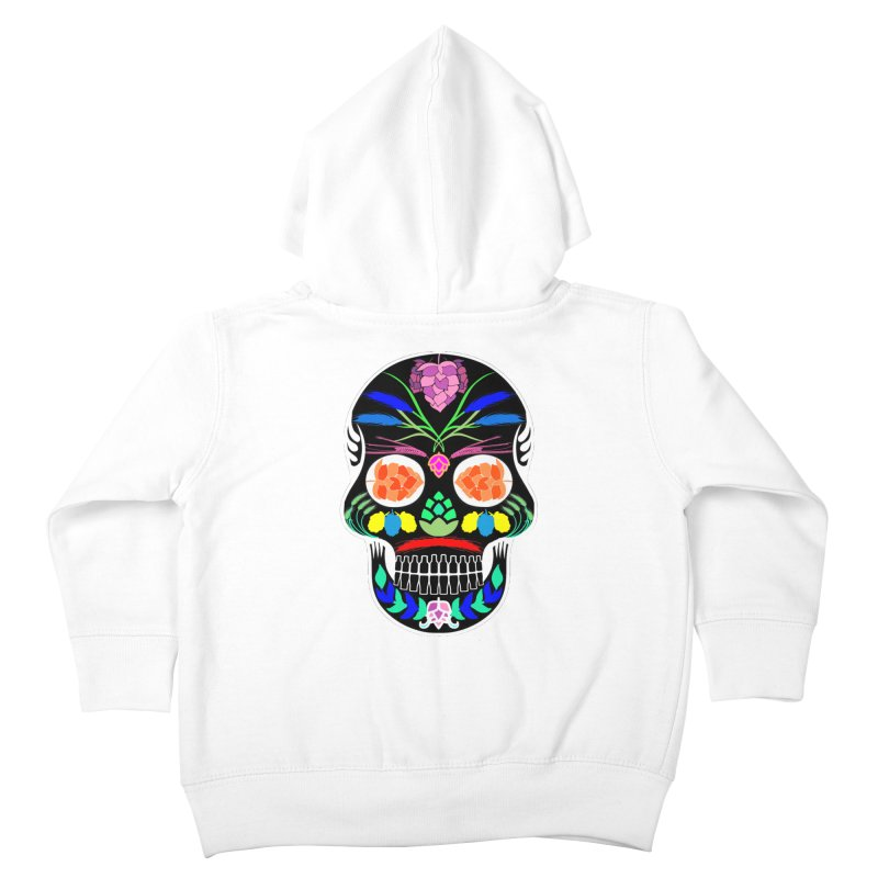 Hoppy Sugar Skull (inverse) Kids Toddler Zip-Up Hoody by DrinkIN GeekOUT's Artist Shop