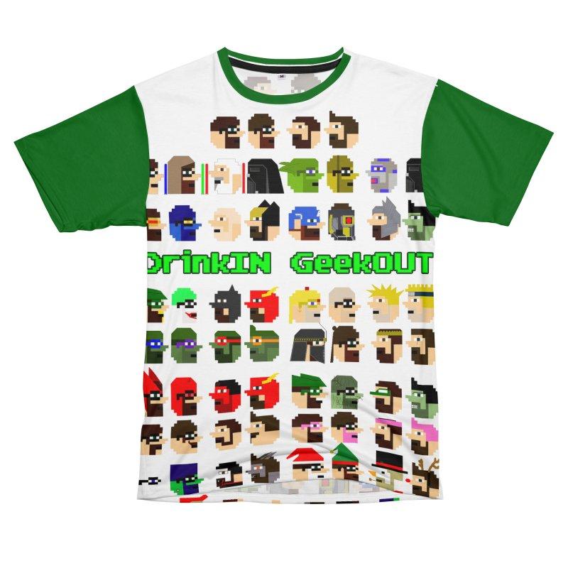 Many Heads Men's Cut & Sew by DrinkIN GeekOUT's Artist Shop