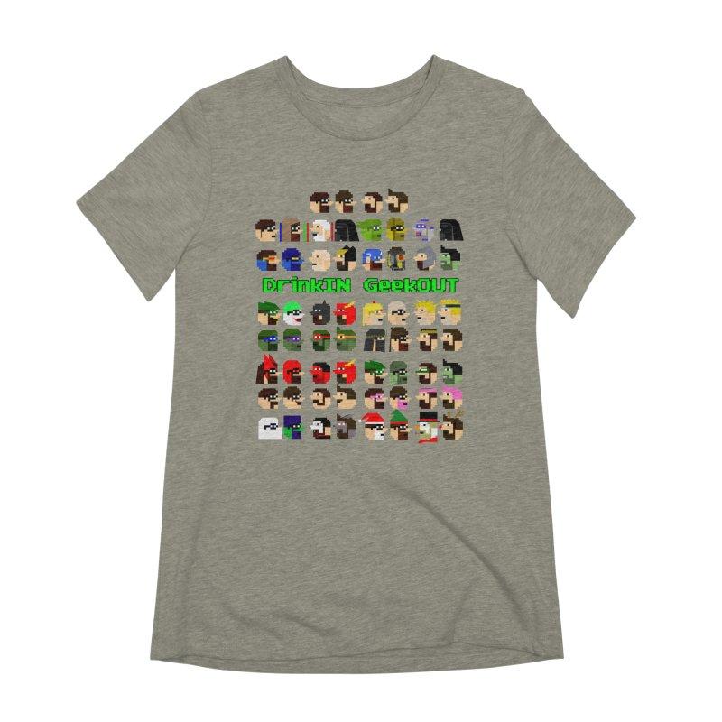 Many Heads Women's Extra Soft T-Shirt by DrinkIN GeekOUT's Artist Shop