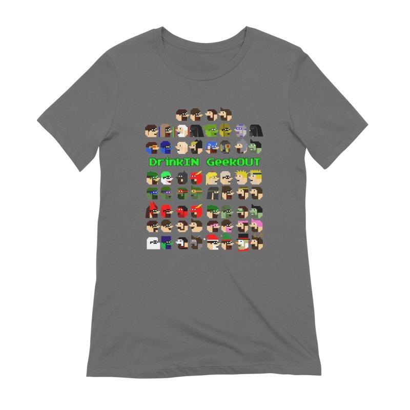 Many Heads Women's T-Shirt by DrinkIN GeekOUT's Artist Shop