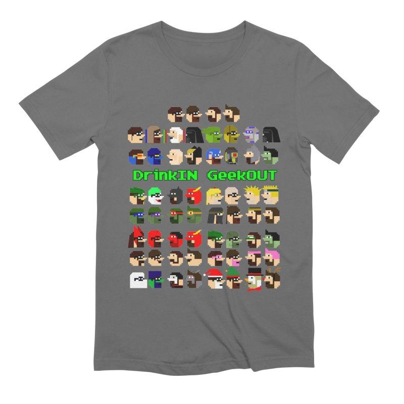 Many Heads Men's T-Shirt by DrinkIN GeekOUT's Artist Shop