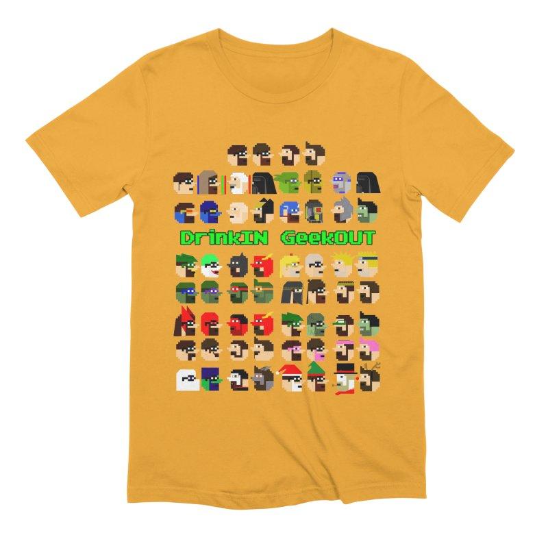 Many Heads Men's Extra Soft T-Shirt by DrinkIN GeekOUT's Artist Shop