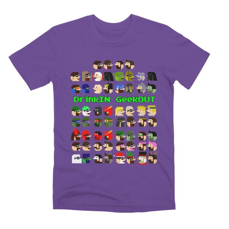 Many Heads Men's Premium T-Shirt by DrinkIN GeekOUT's Artist Shop