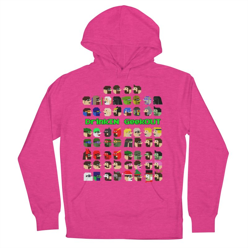 Many Heads Women's French Terry Pullover Hoody by DrinkIN GeekOUT's Artist Shop