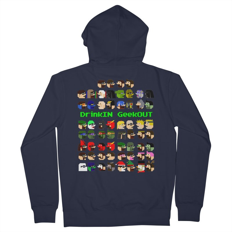 Many Heads Women's French Terry Zip-Up Hoody by DrinkIN GeekOUT's Artist Shop