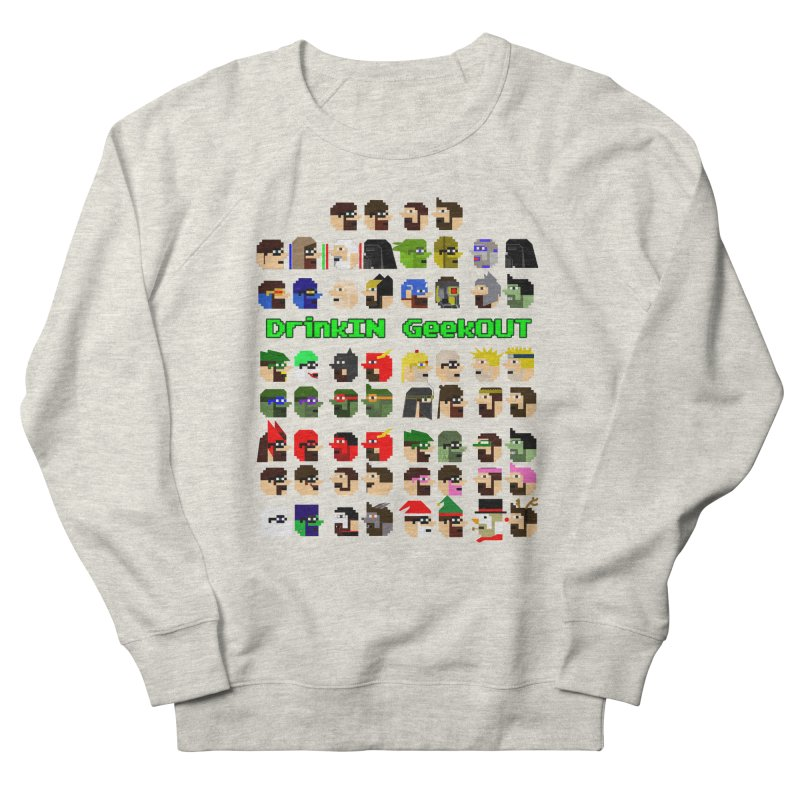 Many Heads Men's French Terry Sweatshirt by DrinkIN GeekOUT's Artist Shop