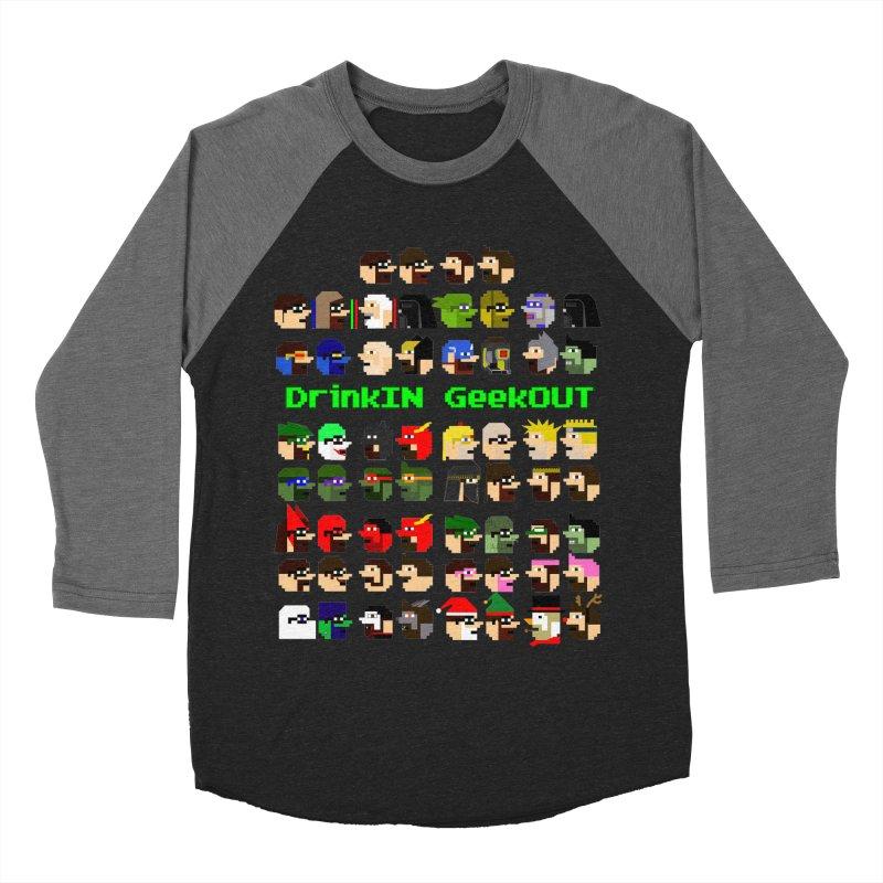 Many Heads Women's Baseball Triblend Longsleeve T-Shirt by DrinkIN GeekOUT's Artist Shop