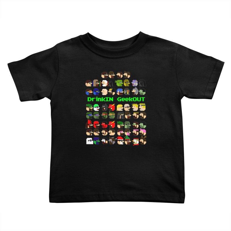 Many Heads Kids Toddler T-Shirt by DrinkIN GeekOUT's Artist Shop