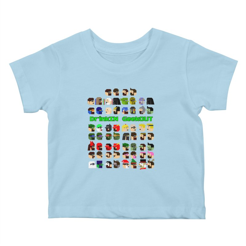Many Heads Kids Baby T-Shirt by DrinkIN GeekOUT's Artist Shop
