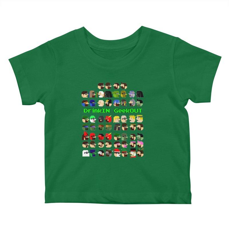 Many Heads Kids Baby T-Shirt by DrinkIN GeekOUT's Artist Shop
