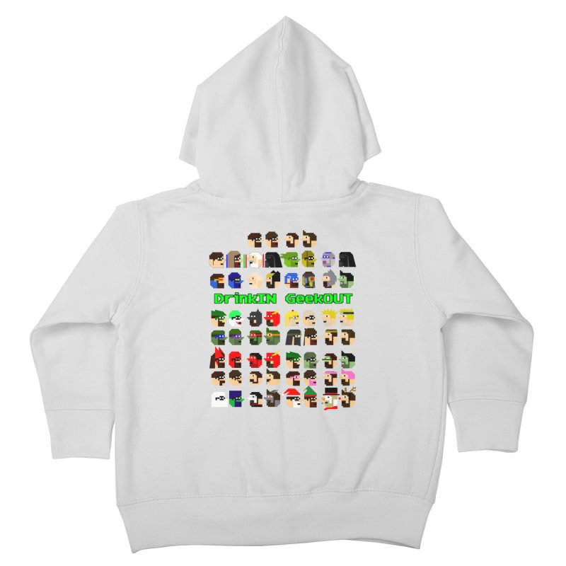 Many Heads Kids Toddler Zip-Up Hoody by DrinkIN GeekOUT's Artist Shop