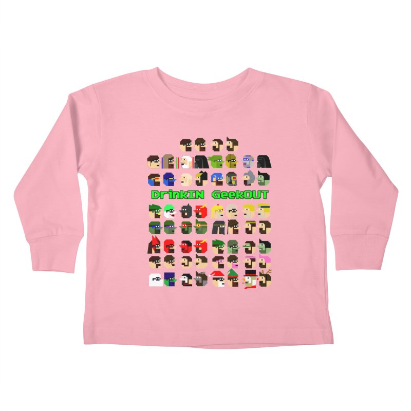 Many Heads Kids Toddler Longsleeve T-Shirt by DrinkIN GeekOUT's Artist Shop