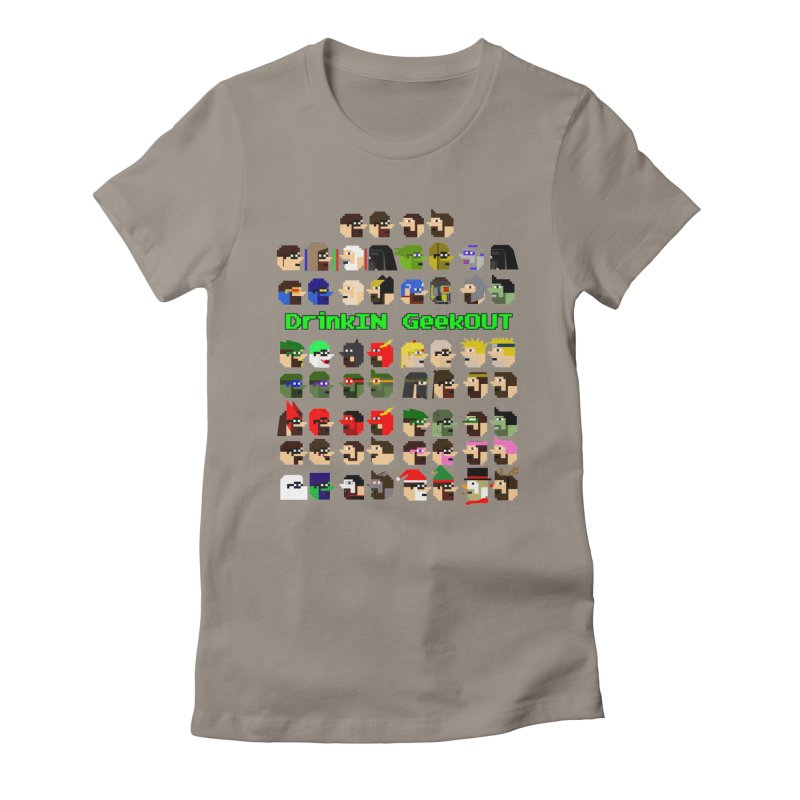 Many Heads Women's Fitted T-Shirt by DrinkIN GeekOUT's Artist Shop