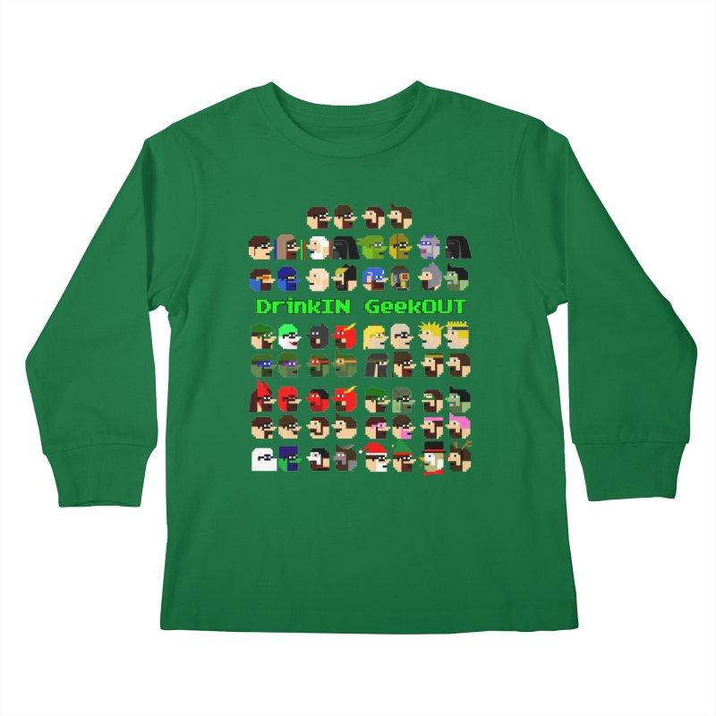 Many Heads Kids Longsleeve T-Shirt by DrinkIN GeekOUT's Artist Shop
