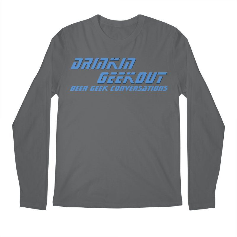 DrinkIN GeekOUT: Beer Geek Conversations Men's Longsleeve T-Shirt by DrinkIN GeekOUT's Artist Shop