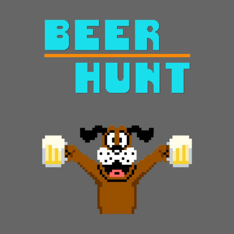Beer Hunt Dog Men's T-Shirt by DrinkIN GeekOUT's Artist Shop