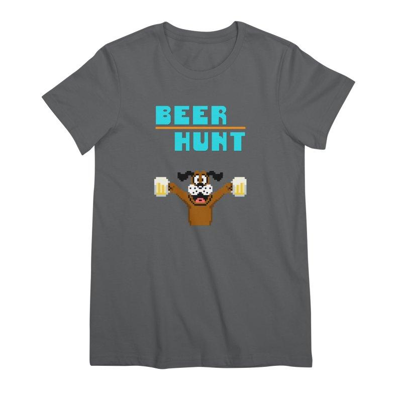 Beer Hunt Dog Women's T-Shirt by DrinkIN GeekOUT's Artist Shop